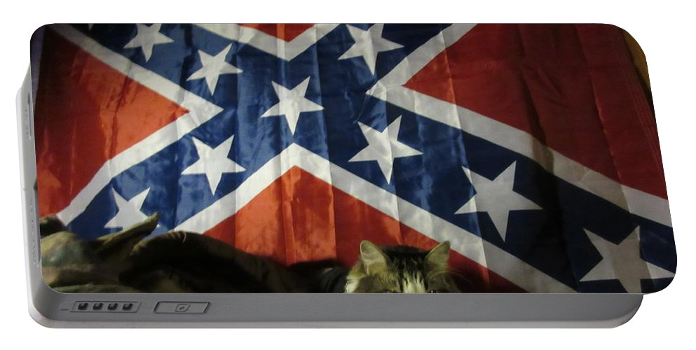 Rebel Portable Battery Charger featuring the photograph Rebel Cat by Frederick Holiday