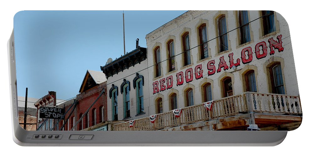Usa Portable Battery Charger featuring the photograph Red Dog Saloon by LeeAnn McLaneGoetz McLaneGoetzStudioLLCcom