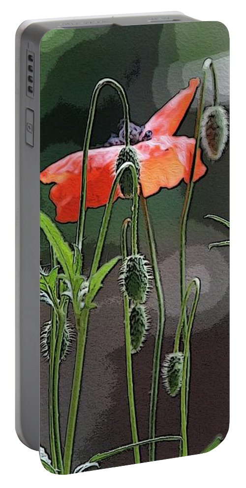 Flowers Portable Battery Charger featuring the photograph Red Poppies by Yvonne Wright