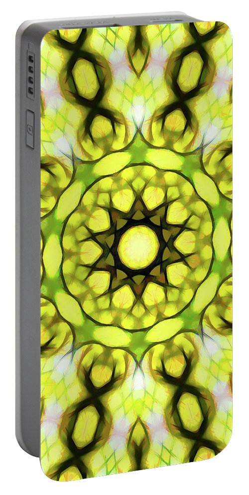 Mandala Art Portable Battery Charger featuring the painting Religion by Jeelan Clark