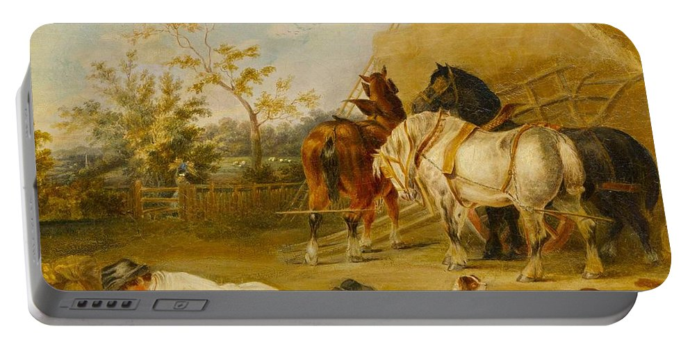 William Joseph Shayer(british Portable Battery Charger featuring the painting Resting Travelers by William Joseph