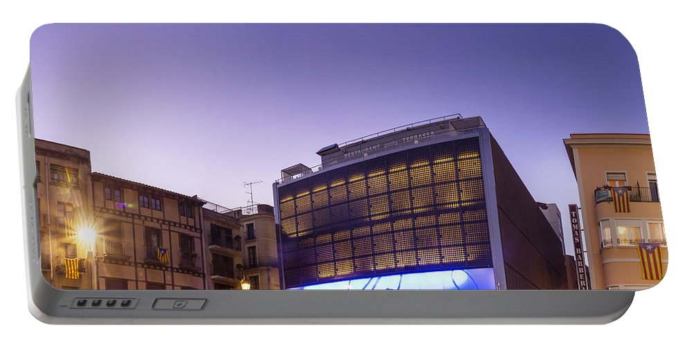 Mercadal Square Portable Battery Charger featuring the photograph Reus Triptych, Spain by David Ortega Baglietto