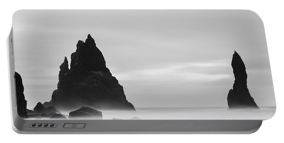 Iceland Portable Battery Charger featuring the photograph Reynisdrangar Iceland by Gunnar Orn Arnason