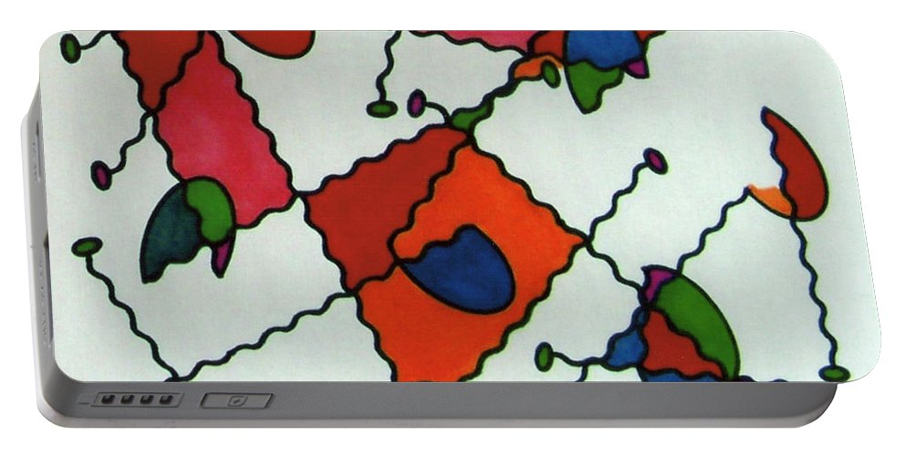 Ladybugs Portable Battery Charger featuring the drawing Rfb0581 by Robert F Battles