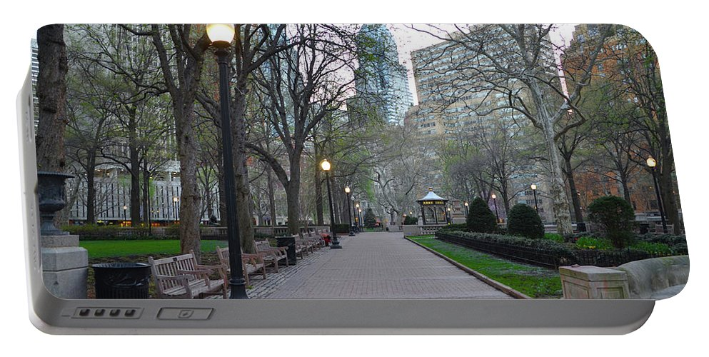 Rittenhouse Portable Battery Charger featuring the photograph Rittenhouse Square In The Morning by Bill Cannon