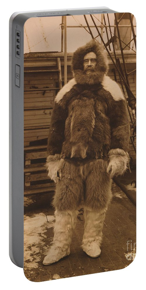 History Portable Battery Charger featuring the photograph Robert Edwin Peary, American Explorer by Photo Researchers