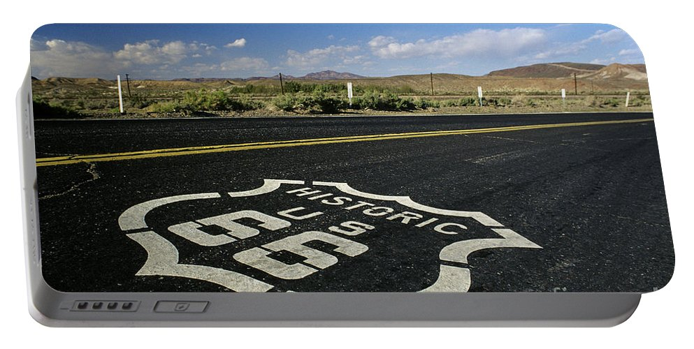 Landscape Portable Battery Charger featuring the photograph Route 66 by Jim Corwin