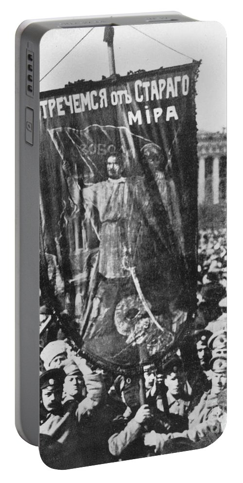 1917 Portable Battery Charger featuring the photograph Russia: Revolution Of 1917 by Granger