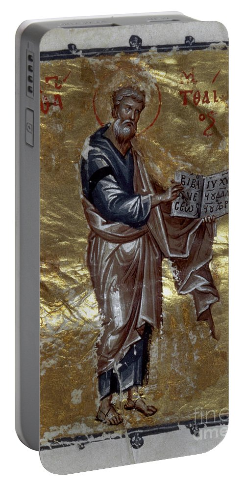 13th Century Portable Battery Charger featuring the painting Saint Matthew by Granger