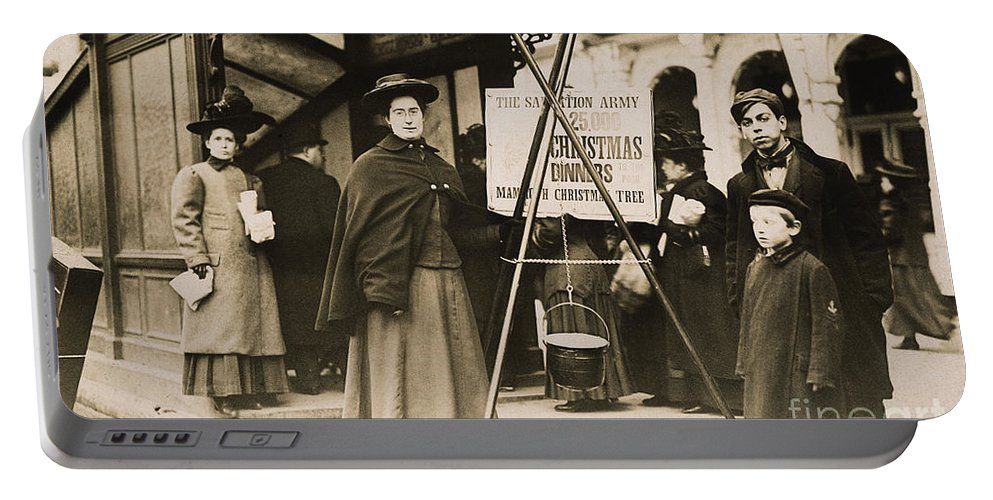 1908 Portable Battery Charger featuring the photograph Salvation Army, 1908 by Granger