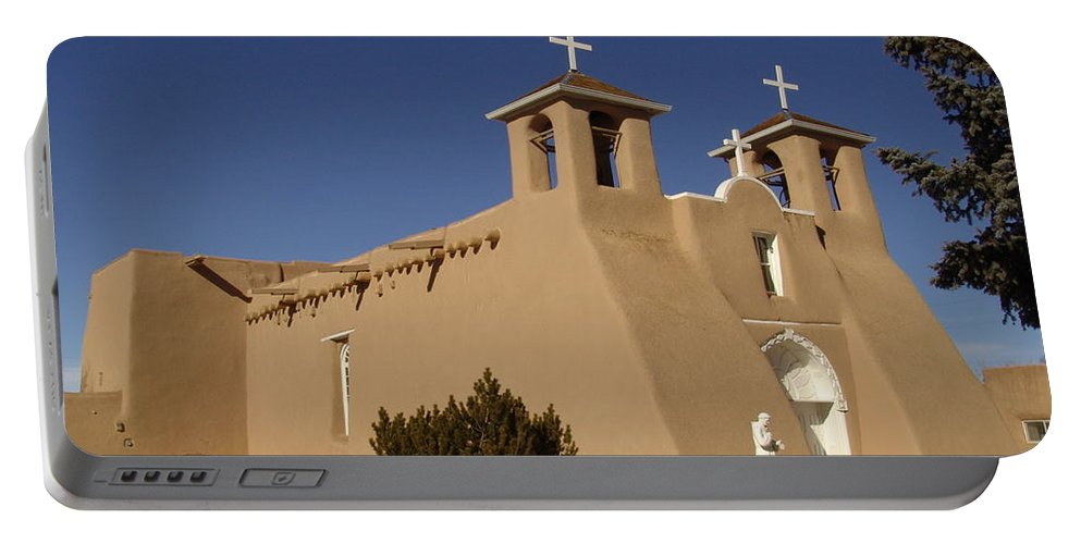Church Portable Battery Charger featuring the photograph San Francisco De Asis Mission Church by Carol Milisen