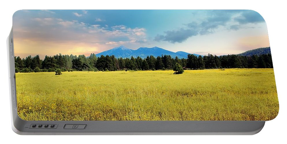 San Francisco Peaks Portable Battery Charger featuring the photograph San Francisco Peaks by Kelly Wade