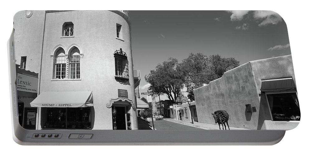 Adobe Portable Battery Charger featuring the photograph Santa Fe New Mexico by Frank Romeo