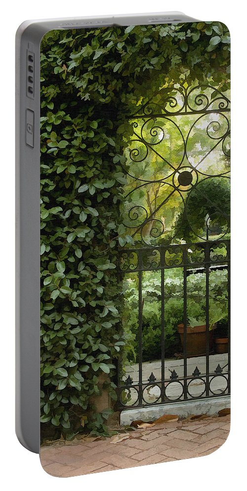 Architecture Portable Battery Charger featuring the photograph Savannah Gate by Sharon Foster