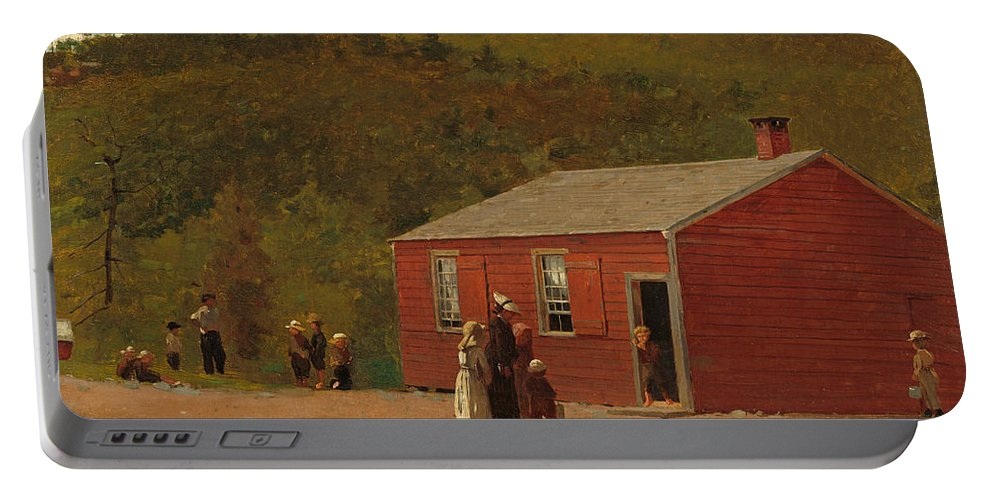Winslow Homer Portable Battery Charger featuring the painting School Time by Winslow Homer
