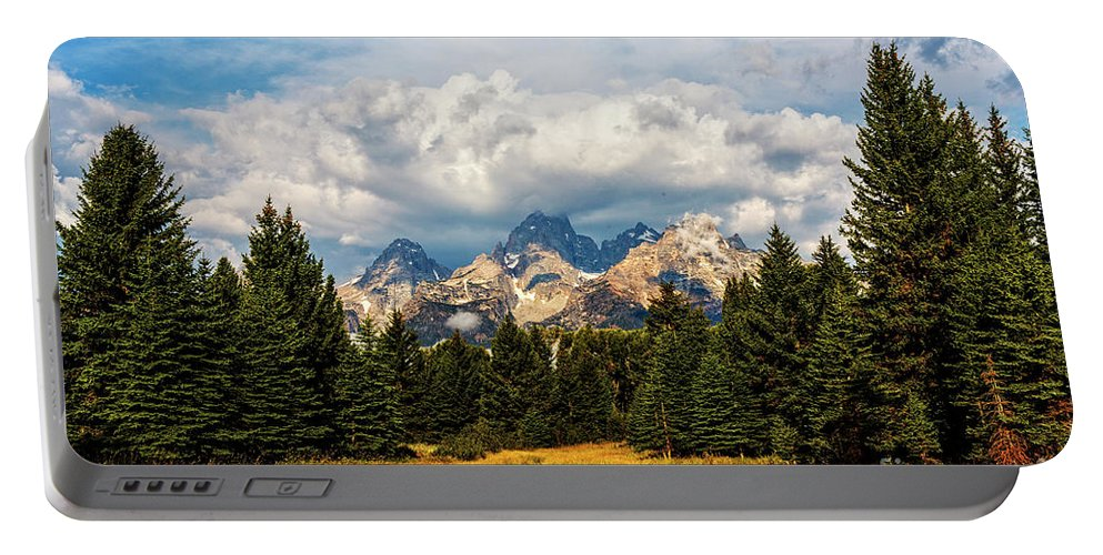 Schwabacher Portable Battery Charger featuring the photograph Schwabacher Landing by Rodney Cammauf