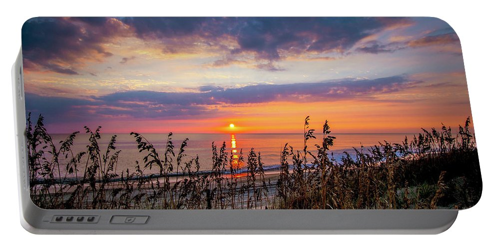 Sea Portable Battery Charger featuring the photograph Sea Oats by Larry Waldon