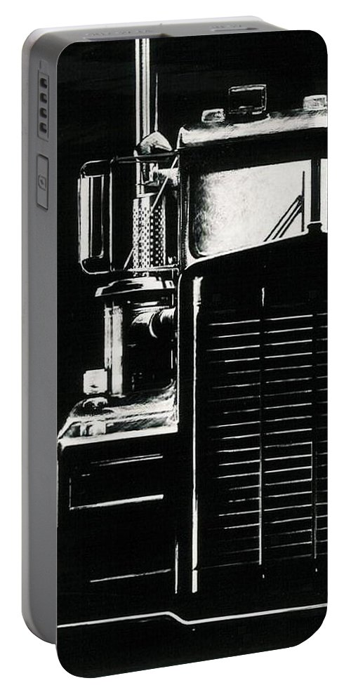 Vehicle Portable Battery Charger featuring the drawing Semi by Barbara Keith