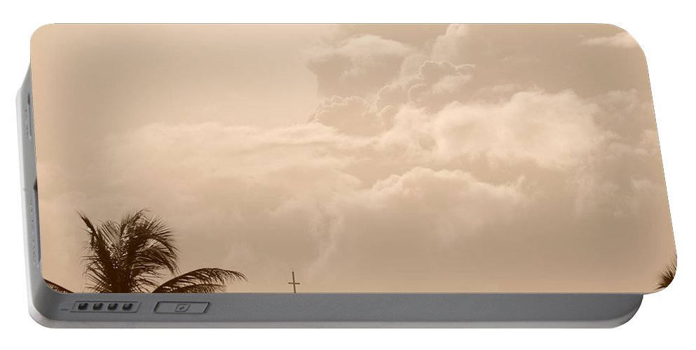 Sepia Portable Battery Charger featuring the photograph Sepia Sky by Rob Hans