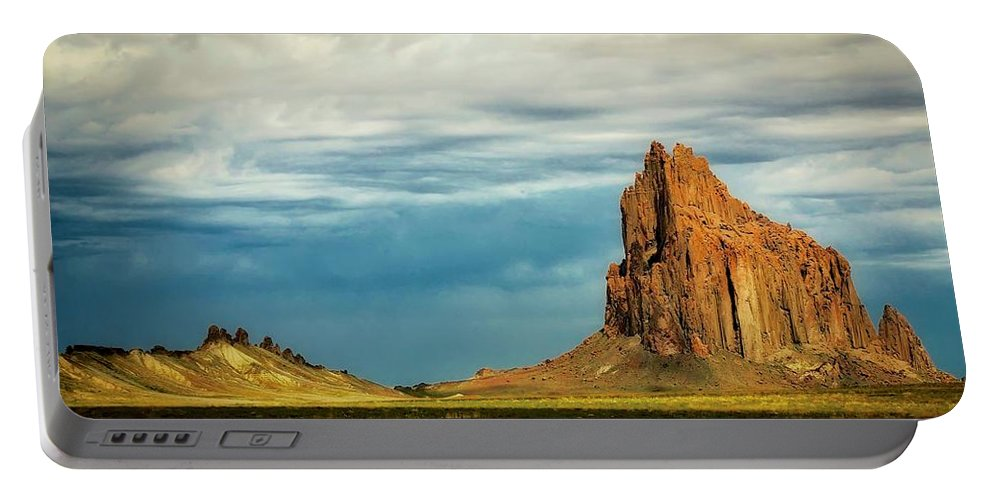 Nature Portable Battery Charger featuring the photograph Shiprock, New Mexico by Zayne Diamond Photographic