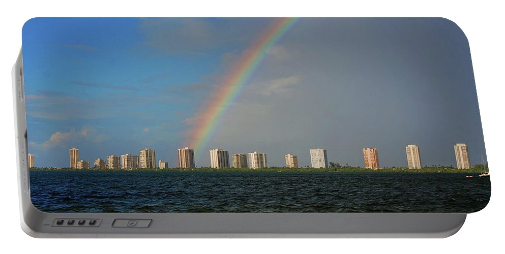Rainbow Portable Battery Charger featuring the photograph 1- Singer Island by Rainbows