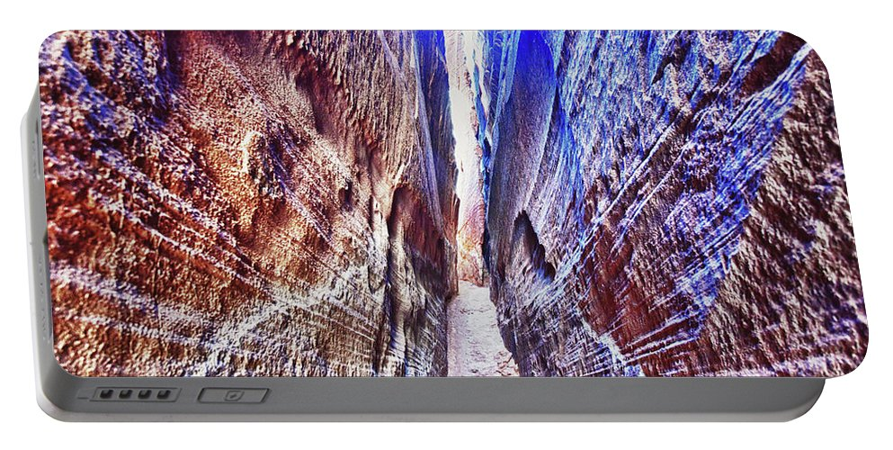 Slot Canyon Portable Battery Charger featuring the photograph Slot Canyon Of Canyon De Chelly, by Surjanto Suradji