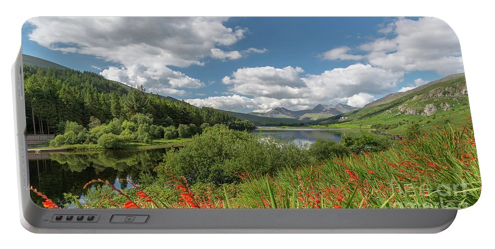Lake Portable Battery Charger featuring the photograph Snowdonia Lake by Adrian Evans