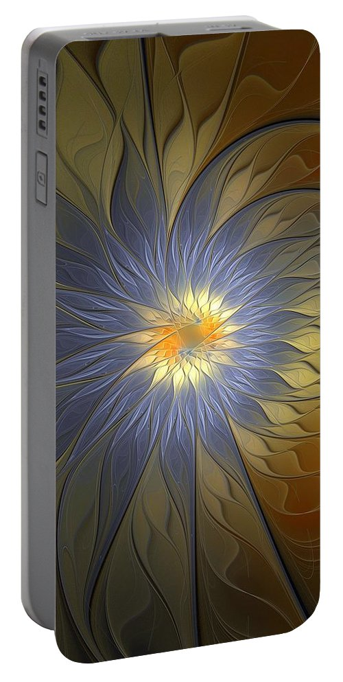Digital Art Portable Battery Charger featuring the digital art Something Blue by Amanda Moore