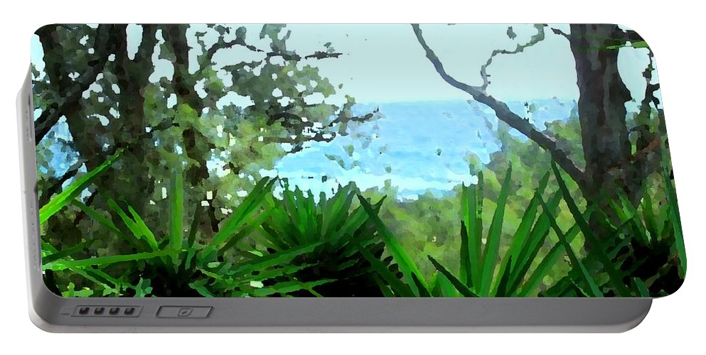 Bermuda Portable Battery Charger featuring the photograph South Shore Bermuda by Ian MacDonald