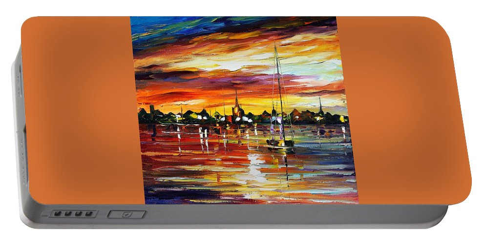 Afremov Portable Battery Charger featuring the painting Spain by Leonid Afremov