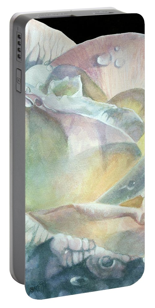 Dew Drops Portable Battery Charger featuring the painting Sparkler by Barbara Keith