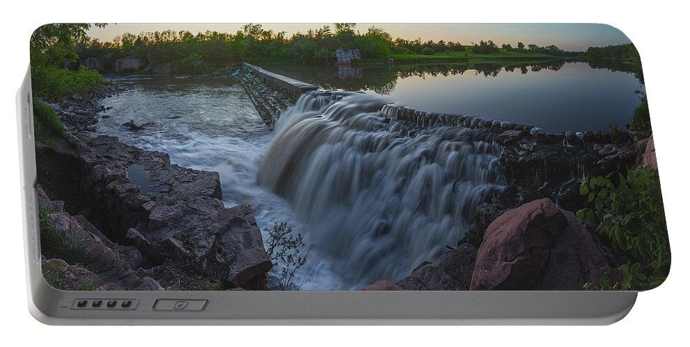 Split Rock Portable Battery Charger featuring the photograph Split Rock Sunset Panorama by Aaron J Groen
