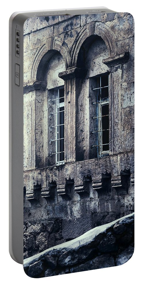 House Portable Battery Charger featuring the photograph Spooky House by Joana Kruse