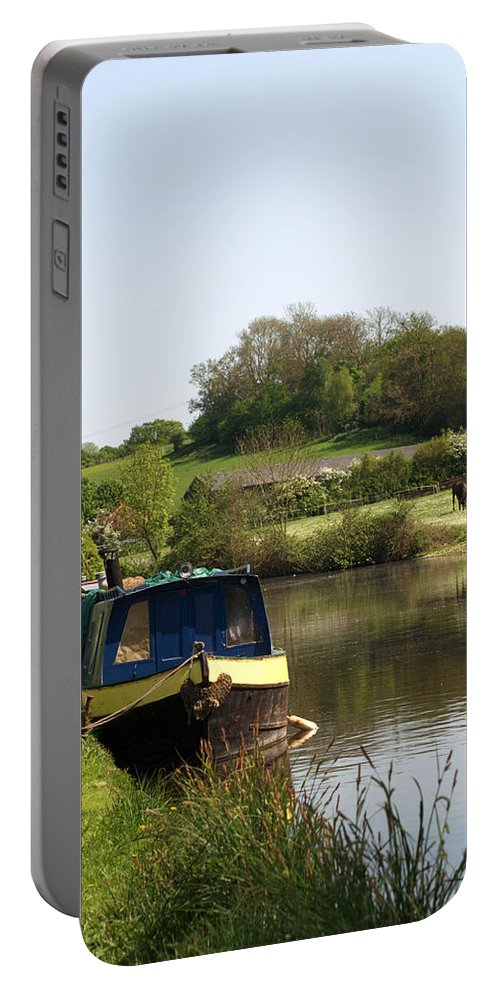 Stockers Portable Battery Charger featuring the photograph Springtime By The Canal by Chris Day