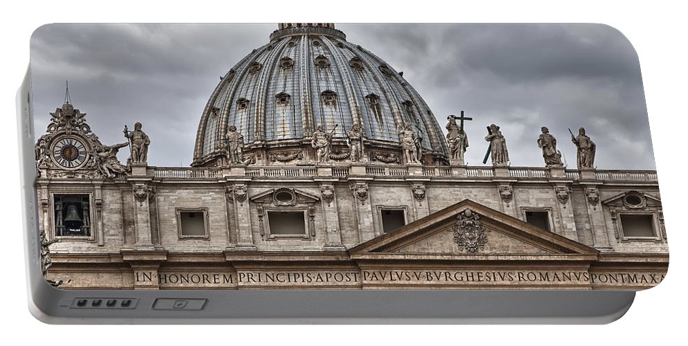 Italy Portable Battery Charger featuring the photograph St. Peter's Basilica by Janet Fikar
