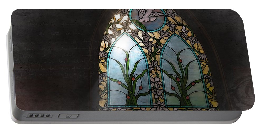 Stained Glass Portable Battery Charger featuring the photograph Stained Glass by David Arment