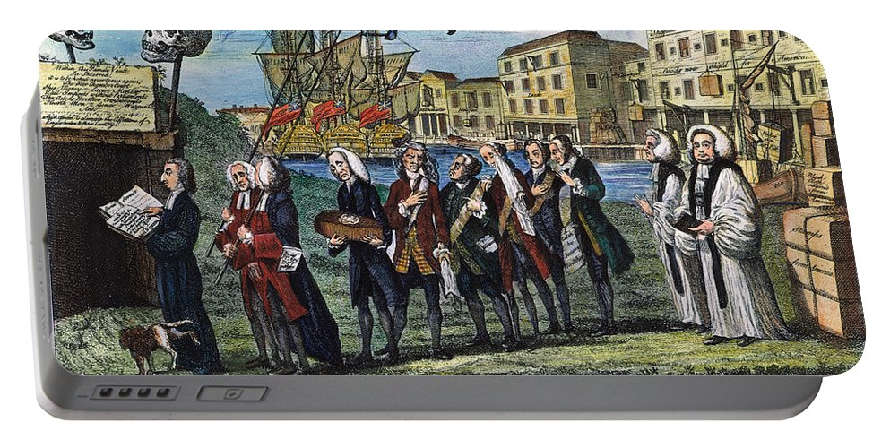 1766 Portable Battery Charger featuring the photograph Stamp Act: Repeal, 1766 by Granger