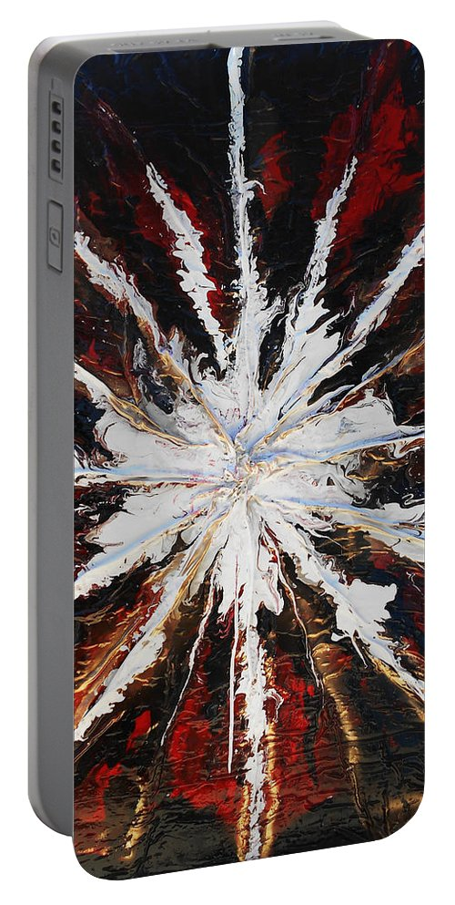 Sculpted Art Portable Battery Charger featuring the mixed media Star by Angela Stout