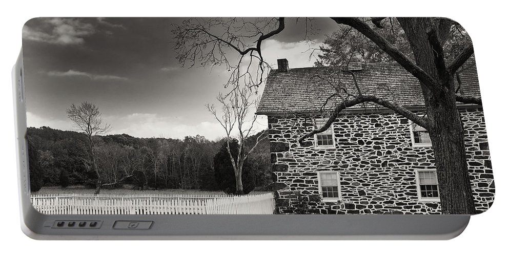 Armhouse Portable Battery Charger featuring the photograph Stone Farmhouse by Mick Burkey