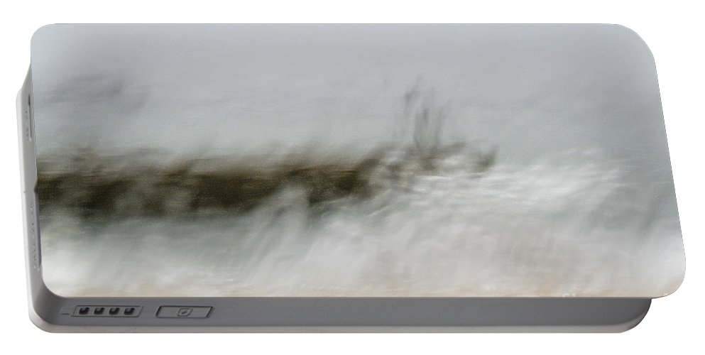 Storm Portable Battery Charger featuring the photograph Stormy Seas by Vladi Alon