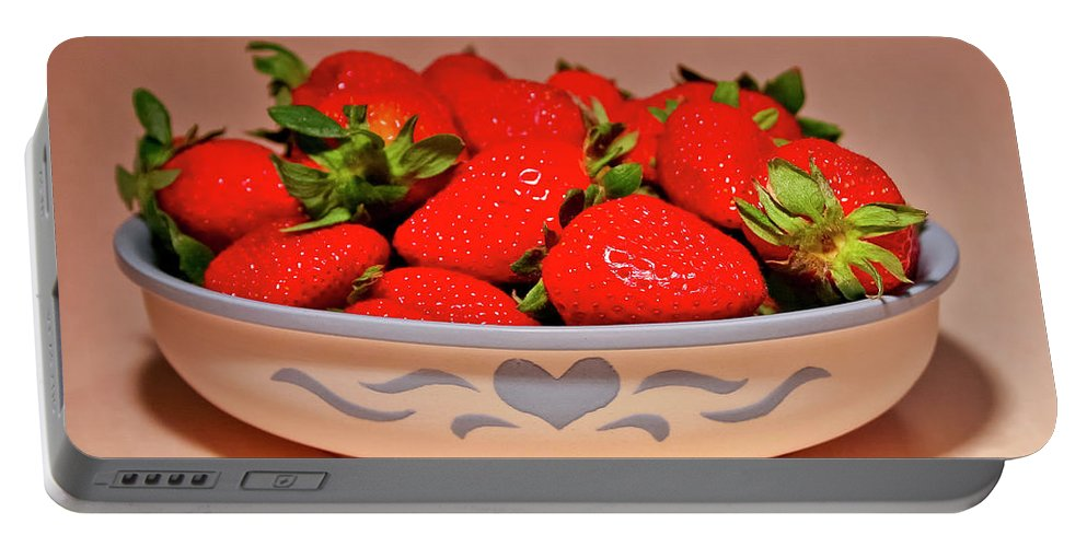 Strawberries Portable Battery Charger featuring the photograph Strawberries by Albert Seger
