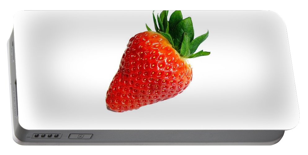 Strawberry Portable Battery Charger featuring the photograph Strawberry by FL collection