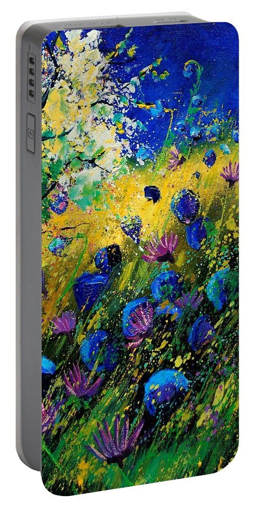 Poppies Portable Battery Charger featuring the painting Summer 450208 by Pol Ledent