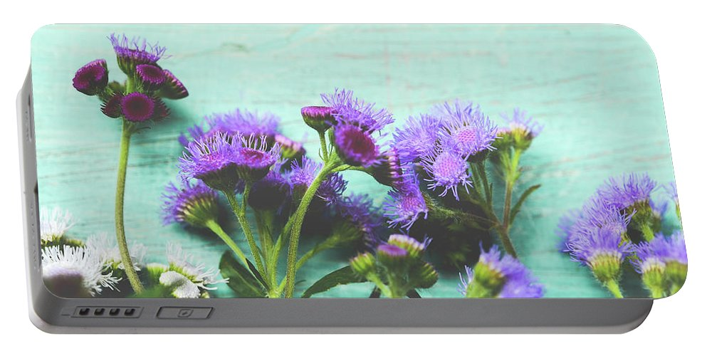Flowers Portable Battery Charger featuring the photograph Summer Flowers by Olivia StClaire