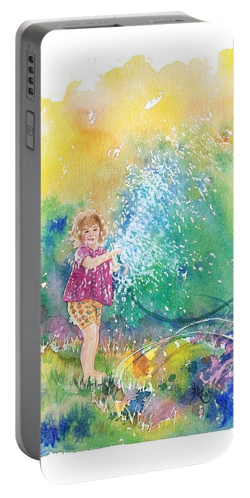 Children Portable Battery Charger featuring the painting Summer Fun by Gale Cochran-Smith