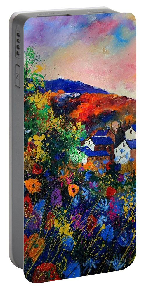 Landscape Portable Battery Charger featuring the painting Summer by Pol Ledent