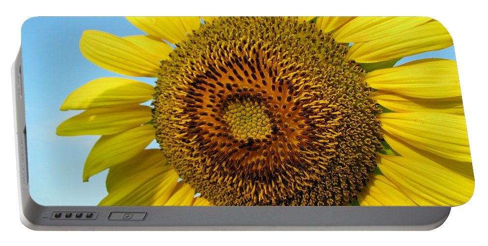 Sunflower Portable Battery Charger featuring the photograph Sunflower Series by Amanda Barcon