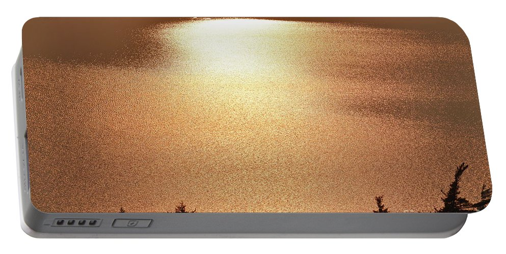 Portable Battery Charger featuring the photograph Sun's Reflection by Journey Through Our Eyes