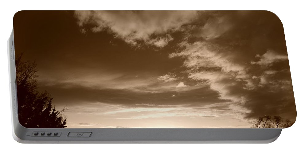 Sunset Portable Battery Charger featuring the photograph Sunset And Clouds by Rob Hans