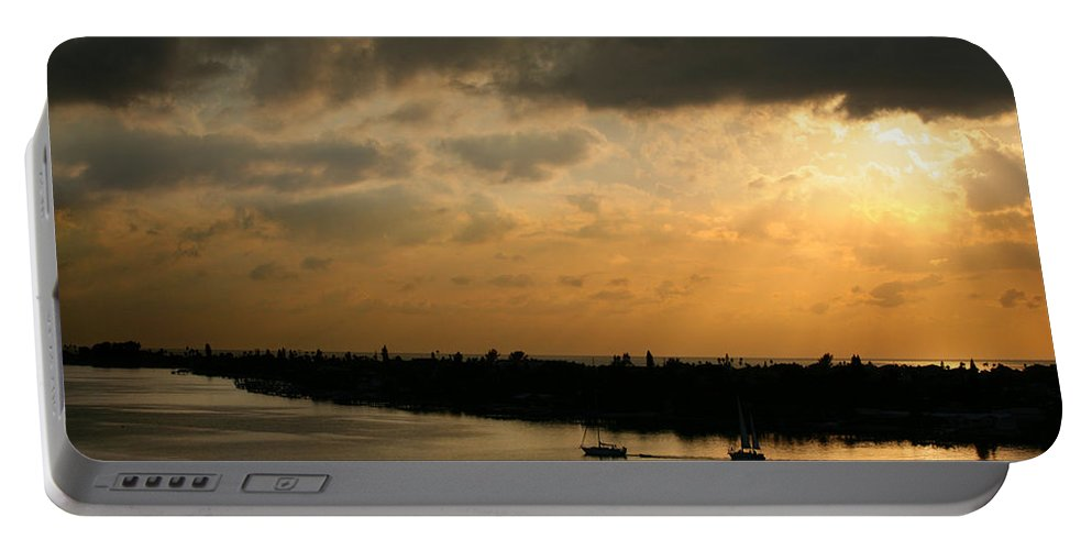 Photograph Portable Battery Charger featuring the photograph Sunset At Pass A Grille Florida by Mal Bray
